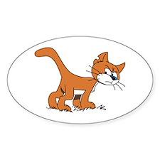 KittyKat Oval Decal