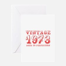 VINTAGE 1973 aged to perfection-red 400 Greeting C
