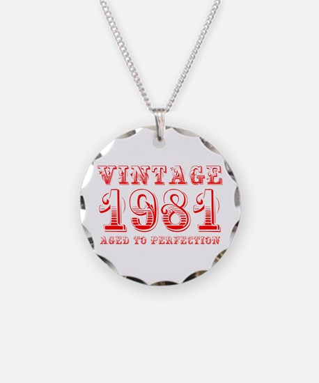 VINTAGE 1981 aged to perfection-red 400 Necklace