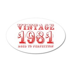 VINTAGE 1981 aged to perfection-red 400 Wall Decal