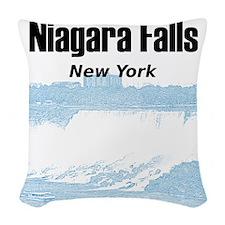Niagara Falls Woven Throw Pillow