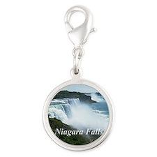 Niagara Falls Silver Round Charm
