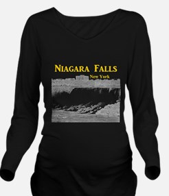 Niagara Falls Long Sleeve Maternity T-Shirt