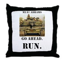 M1A1 Abrams Throw Pillow