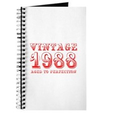 VINTAGE 1988 aged to perfection-red 400 Journal