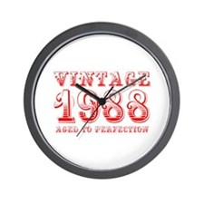 VINTAGE 1988 aged to perfection-red 400 Wall Clock