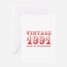 VINTAGE 1991 aged to perfection-red 400 Greeting C