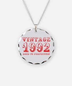 VINTAGE 1992 aged to perfection-red 400 Necklace