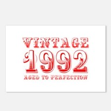 VINTAGE 1992 aged to perfection-red 400 Postcards