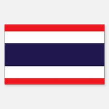 Flag of Thailand Sticker (Rectangle)