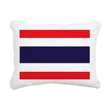 Flag of Thailand Rectangular Canvas Pillow