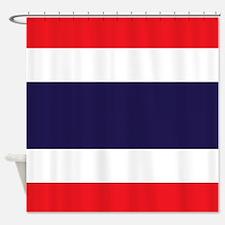 Flag of Thailand Shower Curtain
