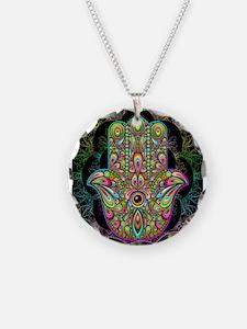 Hamsa Hand Amulet Psychedeli Necklace