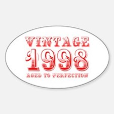 VINTAGE 1998 aged to perfection-red 400 Decal