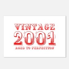 VINTAGE 2001 aged to perfection-red 400 Postcards