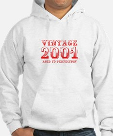 VINTAGE 2001 aged to perfection-red 400 Hoodie