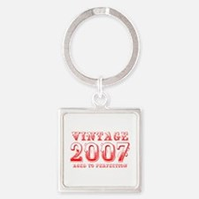 VINTAGE 2007 aged to perfection-red 400 Keychains