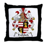 Frolich Family Crest  Throw Pillow