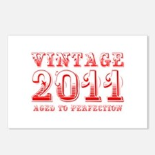 VINTAGE 2011 aged to perfection-red 400 Postcards