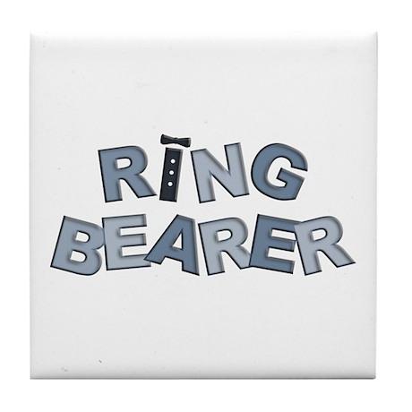 BP Letters Ring Bearer Tile Coaster