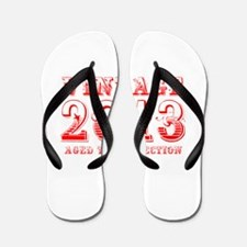 VINTAGE 2013 aged to perfection-red 400 Flip Flops