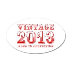 VINTAGE 2013 aged to perfection-red 400 Wall Decal