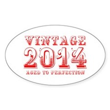 VINTAGE 2014 aged to perfection-red 400 Decal