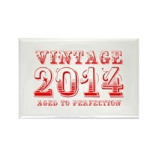 VINTAGE 2014 aged to perfection-red 400 Magnets