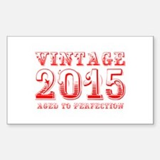 VINTAGE 2015 aged to perfection-red 400 Decal