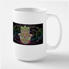 Hamsa Hand Amulet Psychedelic Mugs