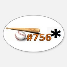 Barry Bonds 756* Oval Decal