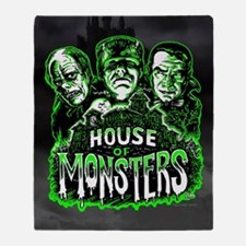 House of Monsters Throw Blanket