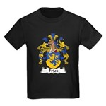 Fries Family Crest  Kids Dark T-Shirt