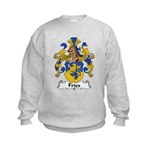 Fries Family Crest  Kids Sweatshirt