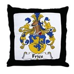 Fries Family Crest  Throw Pillow
