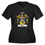 Fries Family Crest  Women's Plus Size V-Neck Dark