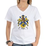 Fries Family Crest  Women's V-Neck T-Shirt