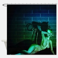 Fetish Cat Woman Shower Curtain
