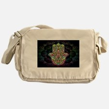 Hamsa Hand Amulet Psychedelic Messenger Bag