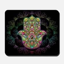 Hamsa Hand Amulet Psychedelic Mousepad