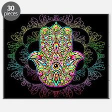 Hamsa Hand Amulet Psychedelic Puzzle