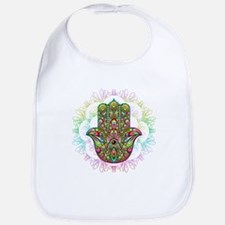 Hamsa Hand Amulet Psychedelic Bib