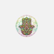 Hamsa Hand Amulet Psychedelic Mini Button