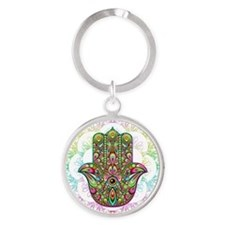 Hamsa Hand Amulet Psychedelic Keychains