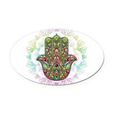Hamsa Oval Car Magnets