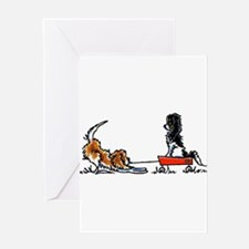 Cute Tricolor Greeting Card
