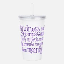 GIVE THEM MEANING Acrylic Double-wall Tumbler