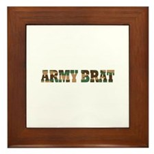 ARMY BRAT Framed Tile