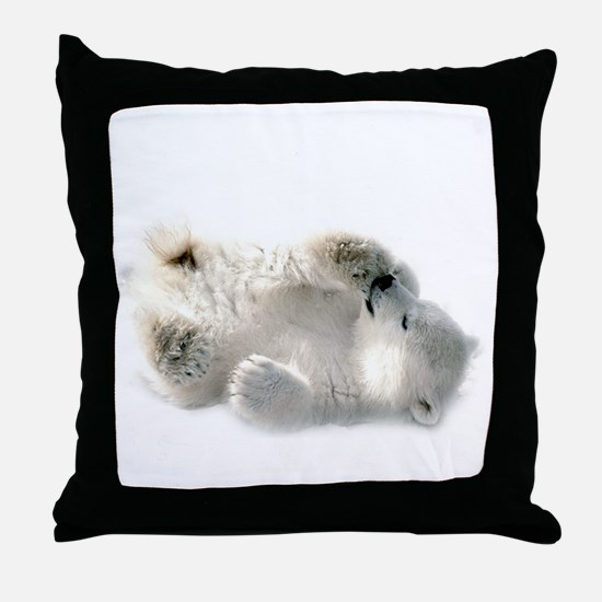 Baby Polar Bear Throw Pillow