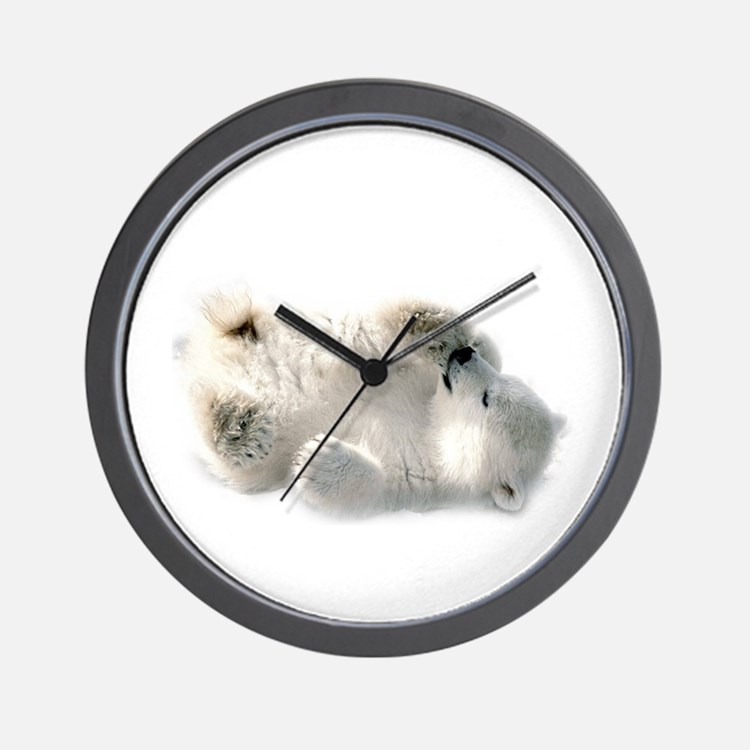 Baby Polar Bear Wall Clock